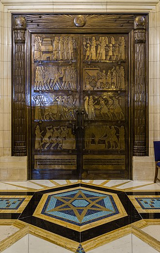 Walter Gilbert (sculptor) - Freemasons' Hall's Grand Temple bronze doors