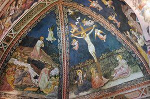Vecchietta - Image: Frescoes Battistero Siena