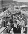 Fresh and eager U.S. Marine troops, newly-arrived at the vital southern supply port of Pusan, are shown prior to... - NARA - 541948.tif