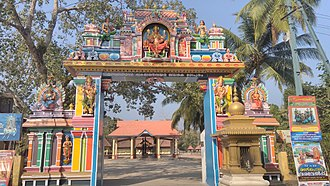Vettikulangara Devi Temple Cheppad - Main entrance to the temple