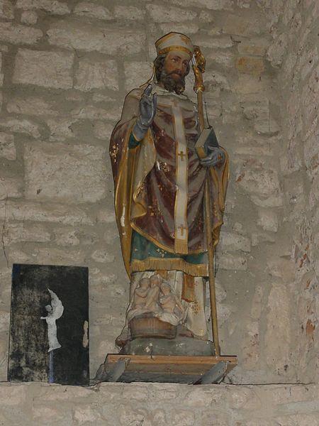 Froville (M-et-M) Prieuré, église, statue Saint Nicolas