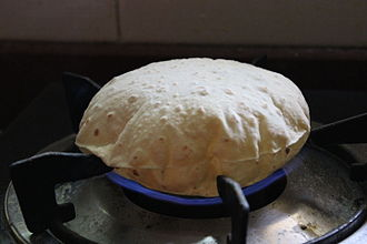 Chapati - Image: Fulka Roti like ball