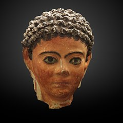 Funerary mask of a young boy-MAHG 012460