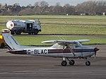 G-BLAC Reims FA152 Aerobat Gloucestershire Airport, December 2015.jpg