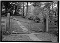 GATE WITH EAST FRONT OF HOUSE - Thomas Leiper House, 519 Avondale Road, Wallingford, Delaware County, PA HABS PA,23-WALF,1-4.tif