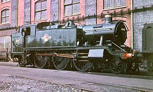GWR 2-6-2T 6147 at Swindon Works (level adjusted).jpg