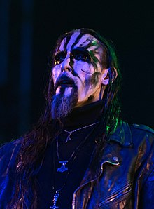 Gaahl performing at Wacken Open Air live in 2018.