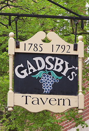 Gadsby's Tavern - Gadsby's Tavern and Museum sign