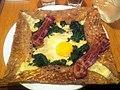 Galette med ost, spinat, æg og bacon (6818258861).jpg