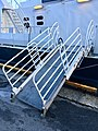 "Gangway (in Norwegian ""landgang"") of MS «Tranen» (catamaran ferry, 2006) at Nattrutekaien in Leirvik, Stord, Norway. 2018-03-10 a.jpg"
