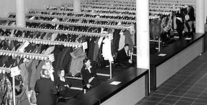 Cloakroom - The cloakroom of the Hanns-Martin-Schleyer-Halle in Germany