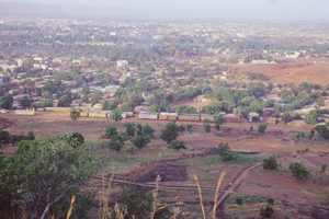 Kati, Mali - Kati seen from surrounding hills