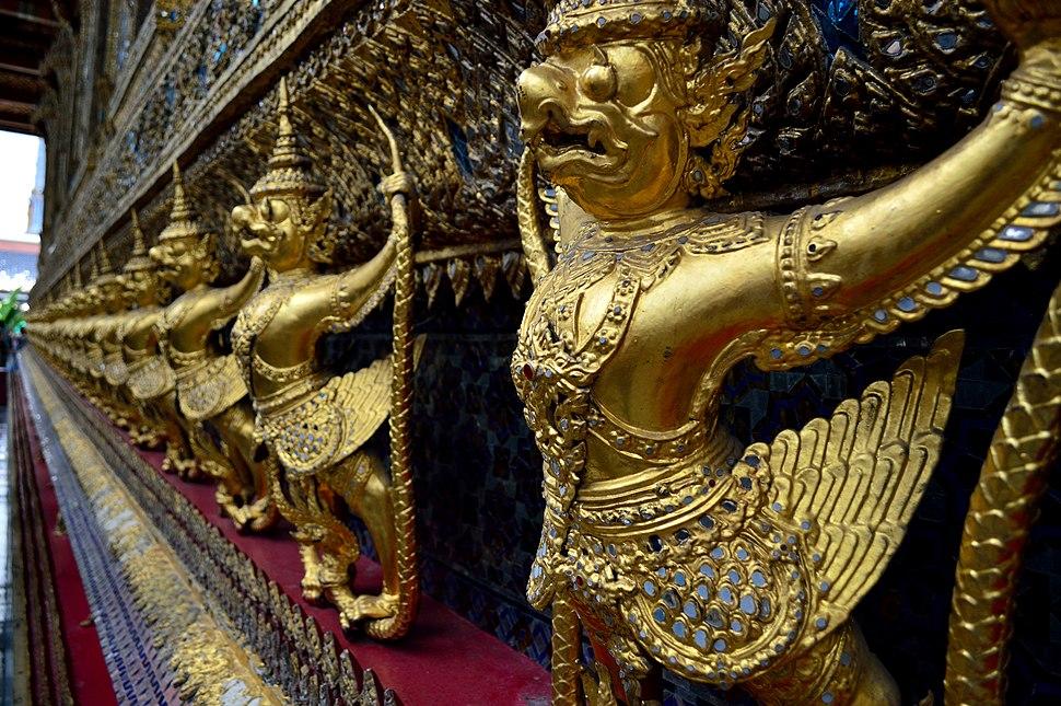 Garudas in the bot of the Wat Phra Kaew