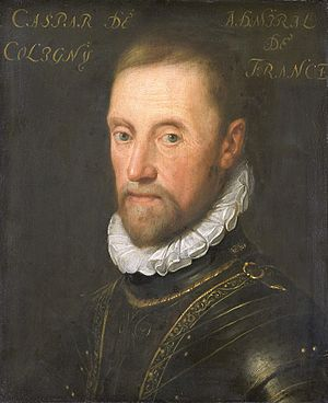 Gaspard de Coligny, by the studio of Jan Anton...