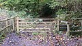 Gate at end of Huckers Lane - geograph.org.uk - 1032041.jpg