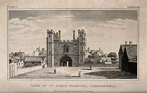 St John's Gate, Clerkenwell - Image: Gate of the Hospital of the Knights of St. John of Jerusalem Wellcome V0013423