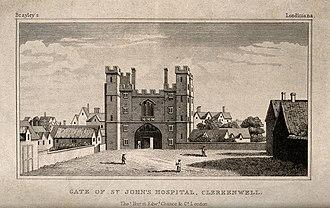 St John's Gate, Clerkenwell - Image: Gate of the Hospital of the Knights of St. John of Jerusalem Wellcome V0013423