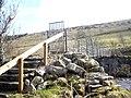 Gated access to footbridge - geograph.org.uk - 1198718.jpg