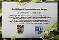 Gedenktafel Berliner Str 81 (Wilmd) Hildegard Wegscheider.jpg