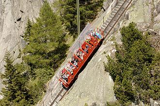 Steep grade railway - The Gelmerbahn funicular railway