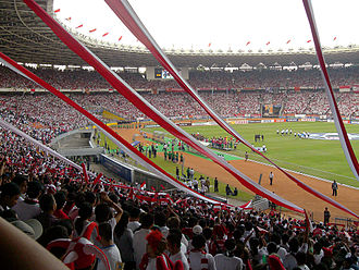 2007 AFC Asian Cup - Match between Indonesia vs South Korea during 2007 AFC Asian Cup, Gelora Bung Karno Stadium, Jakarta, Indonesia.