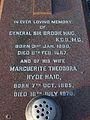 Gen Sir Brodie Haig gravestone in Grouville, Jersey.JPG