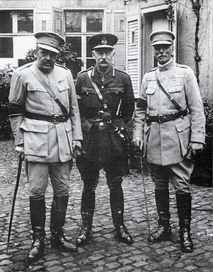 Portuguese Expeditionary Corps - Generals Tamagnini and Gomes da Costa, together with General Haking.