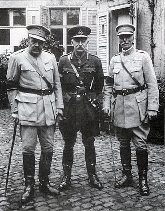 Manuel de Oliveira Gomes da Costa - Generals Tamagnini and Gomes da Costa, together with General Haking.