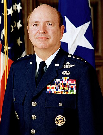 Air Mobility Command - Image: General Hansford Johnson, official military photo, 1990