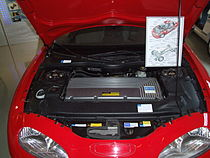 General Motors EV1, engine bay, Motorraum.JPG