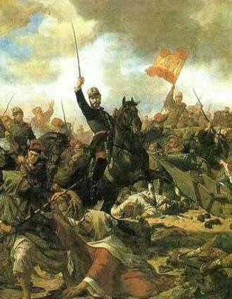 Battle of Tétouan - Image: General Prim en la batalla de Tetuán