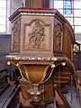 Gennes-sur-Seiche (35) Église Saint-Sulpice Intérieur Chaire 04.jpg