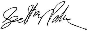 Geoffrey Palmer (politician) - Image: Geoffrey Palmer signature