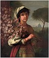 George Henry Hall - AN ITALIAN GIRL WITH CHERRY BLOSSOM - 1887.jpg