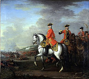 Battle of Dettingen - Image: George II at Dettingen
