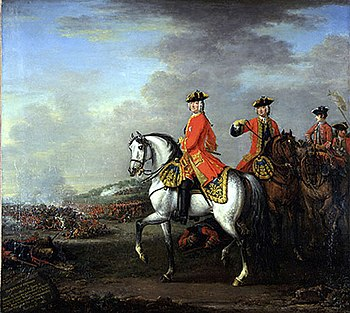 George II of Great Britain during the Battle of Dettingen