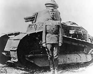 Tank Corps of the American Expeditionary Forces - Image: George S. Patton France 1918