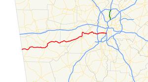 Georgia State Route 166 - Image: Georgia state route 166 map