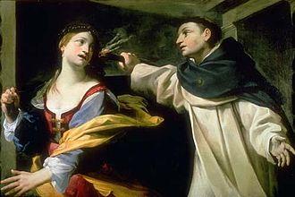 Francesco Gessi - Temptation of Saint Thomas Aquinas.