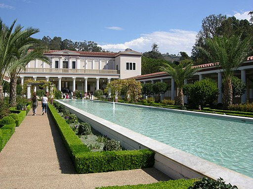 Getty villa, peristilio esterno 15