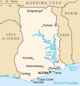 Ghana - Mappa