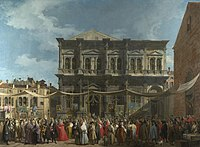 Giovanni Antonio Canal, il Canaletto - The Feast Day of St Roch - WGA03905.jpg