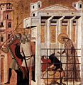 Giovanni Baronzio - Scenes from the Life of St Colomba - St Colomba Saved by a Bear - WGA01303.jpg