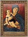 Giovanni bellini, madonna col bambino davanti a un drappo rosso.JPG