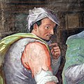 Giovanni maria butteri, Gentiluomini e Popolani durante la ricognizione delle spoglie di San Giovanni Gualberto, 02 autoritratto 2.jpg