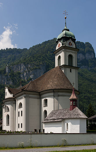 1781 in architecture - St. Hilarius Parish Church of Näfels, Switzerland