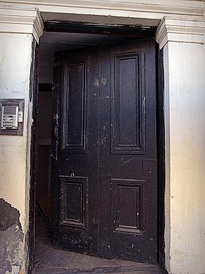 Oscar Slater - Image: Glasgow. Woodlands. 49 West Princes Street. Door of Marion Gilchrist's house