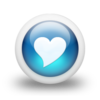 Glossy 3d blue heart.png