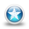 Glossy 3d blue star paint.png