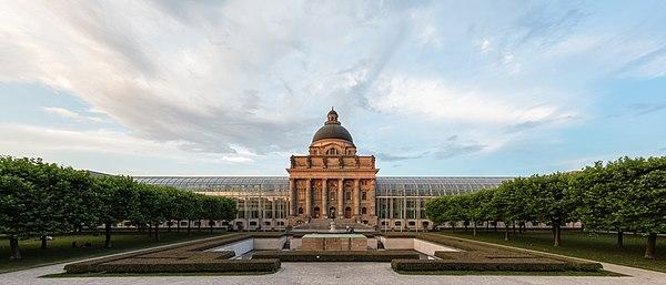 Bayerische Staatskanzlei (Bavarian State Chancellery), Munich, Germany.